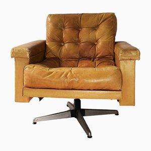 Cognac Leather Swivel Chair by Johannes Spalt for Wittmann, 1959