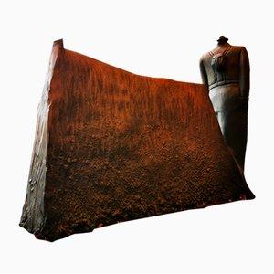 Escultura de arcilla de Sergio Zann, años 80