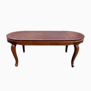 Großer ovaler Louis XV Mahagoni Tisch mit Verzahntem Gürtel