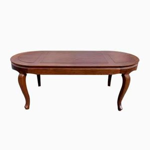 Large Oval Louis XV Mahogany Table with Serrated Belt