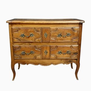 Louis XV Parisian Solid Walnut Chest of Drawers