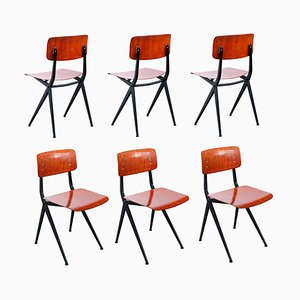 Compass Pyramid Dining Chairs by Ynske Kooistra for Marko, 1960s, Set of 6