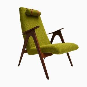 Niederländischer Armlehnstuhl aus Teakholz von Louis van Teeffelen für WeBe, 1960er