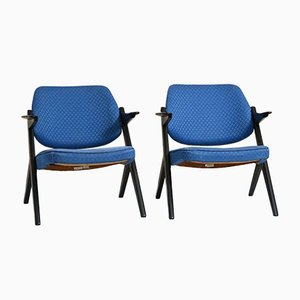 Vintage Scandinavian Blue Lounge Chair by Bengt Ruda for Nordiska Kompaniet, 1960s