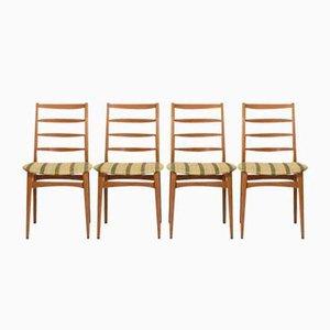 Danish Oak Dining Chairs, 1950s, Set of 4