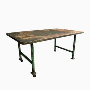 Industrial Iron Garden Table, 1950s