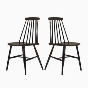 Pinnstolar Esszimmerstühle, 1960er, 2er Set