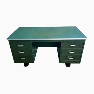 Armeegrüner Schreibtisch von Blerk, 1960er