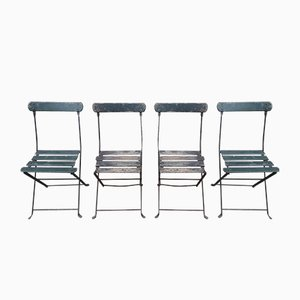 Folding Garden Chairs, 1950s, Set of 4