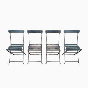 Klappbare Gartenstühle, 1950er, 4er Set