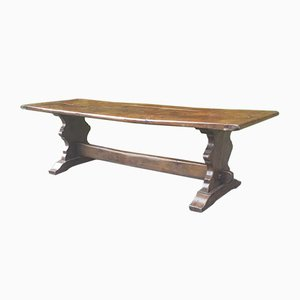 Large Vintage French Farmhouse Trestle Dining Table