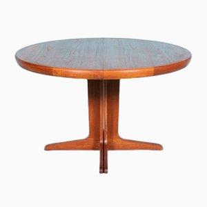 Round Danish Teak Extendable Dining Table from Spøttrup, 1970s