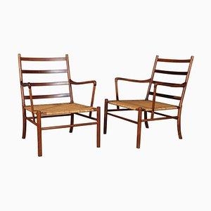 PJ, 149 Colonial Chairs en Palissandre par Ole Wanscher, 1949