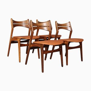 Model 310 Chairs by Erik Buch, Set of 4