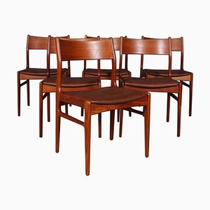 Dining Chairs in Teak from Funder-Schmidt & Madsen, 1960s, Set of 6