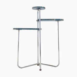 Bauhaus Chrome Shelf / Flower Table by Rudolf Vichr, 1930s