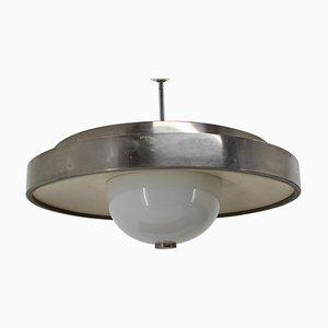 Bauhaus Chrome UFO Pendant, 1930s