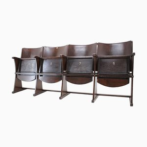 Row of Cinema Chairs / Bench by Thonet, 1940s