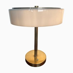 Bauhaus Brass Table Lamp by Franta Anyz for House by Adolf Loos, 1930s