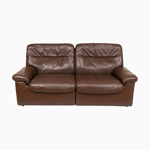 Mid-Century DS-63 Chocolate Brown Leather Sofa from de Sede