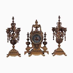Orologio da tavolo con portacandela