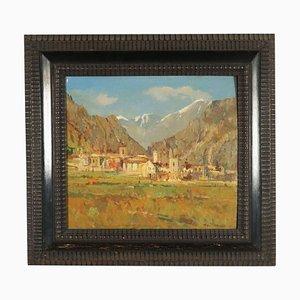 Umberto Montini, olio su tela