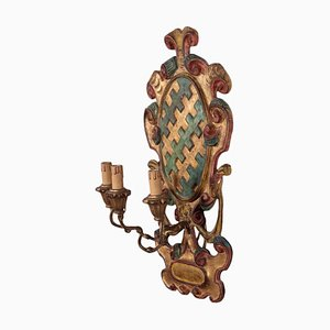 Carved Wood Sconce