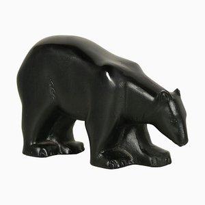 Glass Polar Bear Sculpture