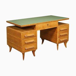 Oak Veneer Desk, Italy, 1950s
