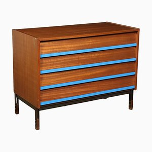 Mahogany Veneer Chest of Drawers, Italy, 1960s