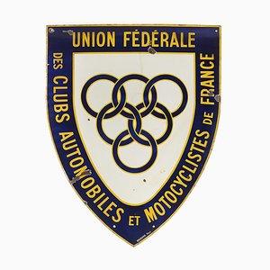 Esmalte de publicidad de la Unión Federal de clubes de automóviles y motociclistas de Francia