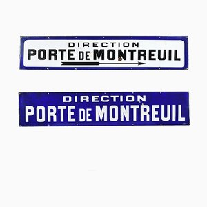 Emaillierte Verwaltung von Montreuil Tür