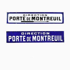 Gestión esmaltada de Montreuil Door