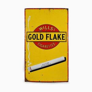 Cartel esmaltado con escamas doradas
