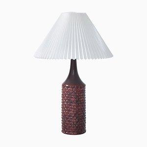 Large Table Lamp in Oxblood Glaze by Axel Salto for Royal Copenhagen, 1958