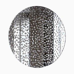 Kleiner handgemalter Spiegel von Laurene Guarneri