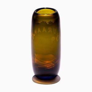 Vaso Harvest Graal in vetro marrone di Tiina Sarapu