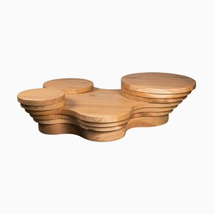 Slice Me Up Skulpturaler Couchtisch aus Zedernholz von Pietro Franceschini