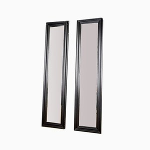 Schwarzer Langer Vintage Spiegel