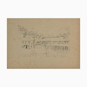 Unbekannt, Grand Hotel, Original Bleistiftzeichnung, Mitte 20. Jahrhundert