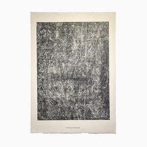 Bebende Textur, Originale Lithographie, 1959