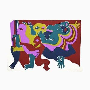 Composition, Original Lithograph by Fritz Baumgartner, 1975