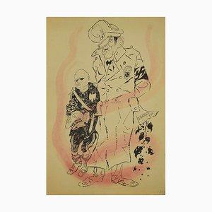 The Dictators, Original ink by Adolf Reinhold Hallman, 1938