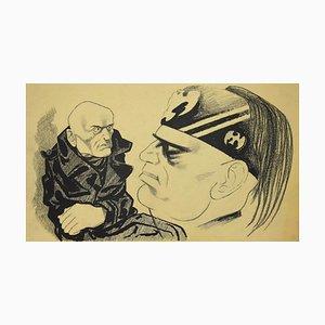 The Dictator, Original ink by Adolf Reinhold Hallman, 1938