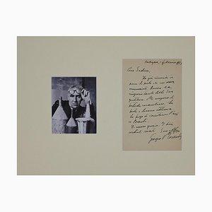 Lettre de Giorgio Morandi Autographiée à l'Artiste Piero Sadun, 1953