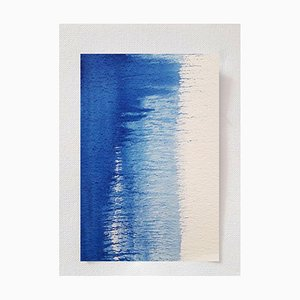 Wave, Top View, Original Watercolor Drawing by Antonietta Valente, 2020