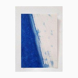 Wave, Seitenansicht, Original Aquarell Zeichnung von Antonietta Valente, 2020