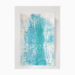 White Sand, Original Aquarell Zeichnung von Antonietta Valente, 2020