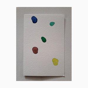 Gems, Original Aquarell Zeichnung von Antonietta Valente, 2020