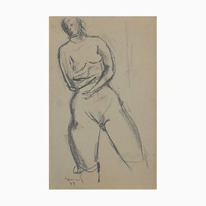 Nude of Woman, Original Pencil by Herta Hausmann, Mid,20th Century